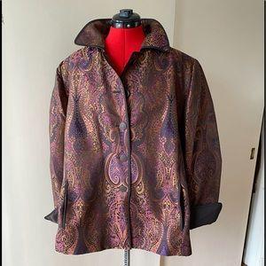 🧥HOST PICK 🖤💜❤️Ellen Tracy 100% Silk Jacket
